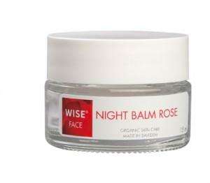 Night Balm Rose WISE z ekologicznym olejkiem z wiesiołka