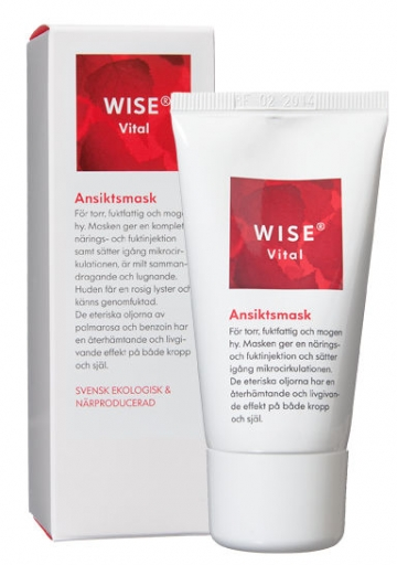 naturalna maseczka glinkowa do skóry suchej WISE VITAL