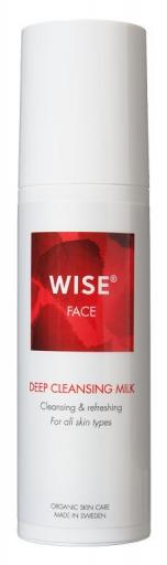 Łagodnie oczyszczające eko mleczko do wszystkich typów skóry WISE