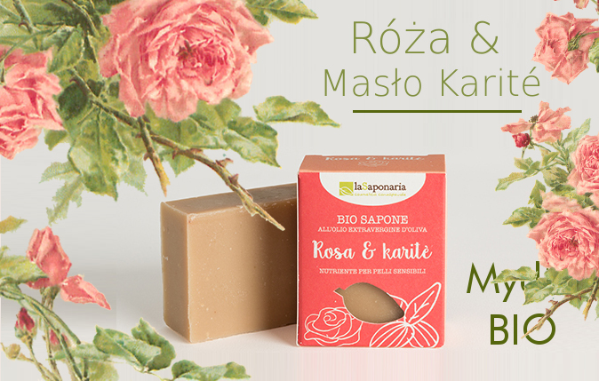Naturalne eko mydło z różą i masłem karite LaSaponaria, Warszawa Sklep