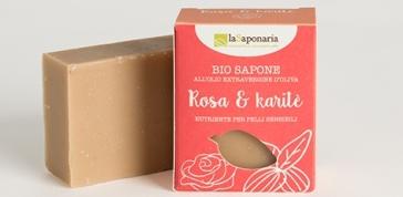 Naturalne Mydło roślinne Róża i Masło Karitè do skóry wrażliwej La Saponaria
