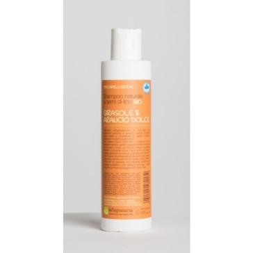 Naturalny BIO Szampon do włosów suchych i farbowanych oraz cienkich i kruchych Słonecznik i Słodka Pomarańcza La Saponaria