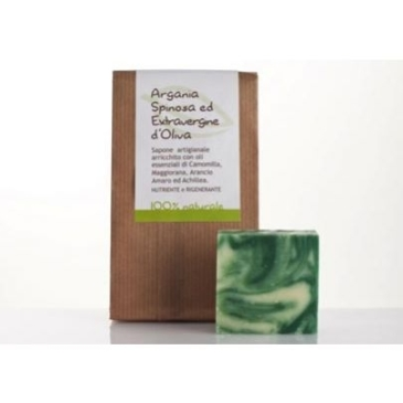 Naturalne odżywcze Mydło regenerujące do cery wrażliwej Olejek Arganowy i Oliwka La Saponaria