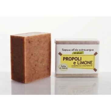 Naturalne mydło Propolis i Cytryna zalecane do skóry skónnej do zaskórników Mydło roślinne La Saponaria