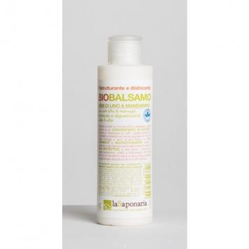 Naturalny balsam do włosów pozbawionych życia Siemię lniane i Zielona mandarynka La Saponaria