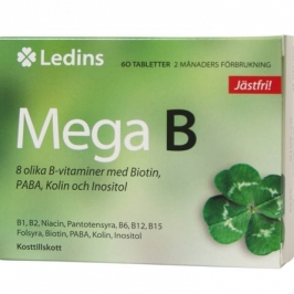 Mega B – 8 witamin z grupy B Ledins